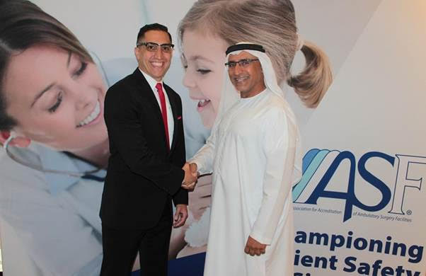 """تمّ اعتماد """"الجمعية الأميركية لإجازة مرافق الجراحة الإسعافية""""  AAAASFكمرجعٍ مجاز من قبل هيئة الصحة في دبي"""