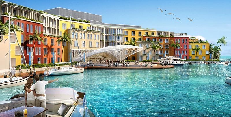 قلب اوروبا في دبي :جزيرة صناعية تجمع الترفيه والإستدامة