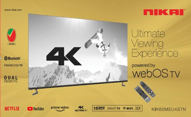 """نيكاي تطرح أول تلفاز يعمل بنظام تشغيل """"ويب أو أس"""" في الإمارات العربية المتحدة"""