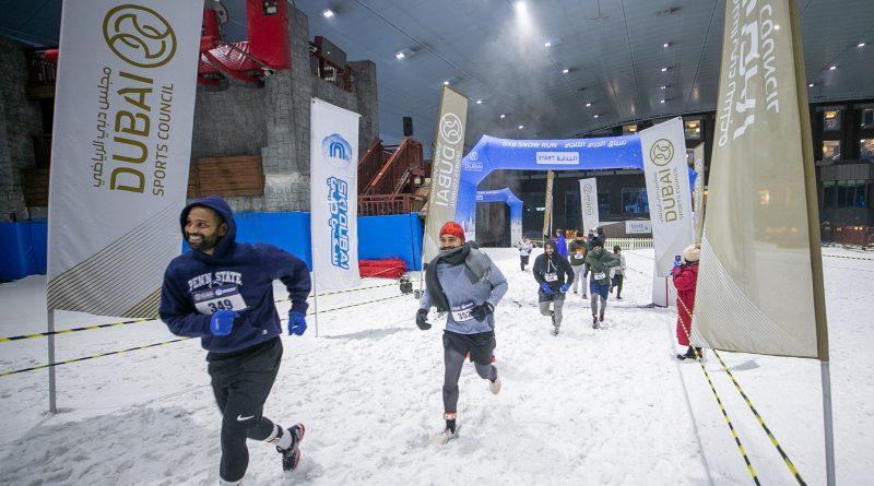 نجاح كبير للدورة الثانية من سباق دبي للجري الثلجي